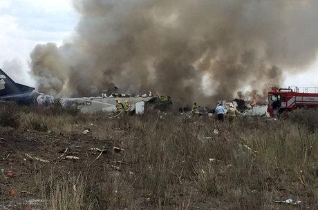 Passageira gravou queda da aeronave