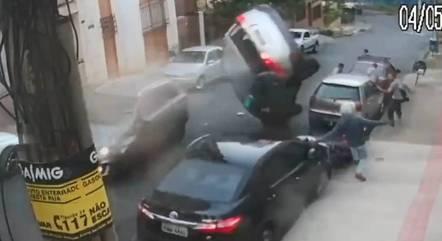 Vídeo mostra o momento exato do acidente em BH