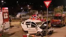 Ladrão tenta fugir da PM em carro roubado e cai em barranco em BH