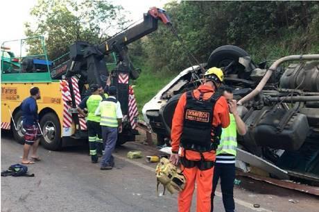 Socorrista morreu esmagada pelo caminhão