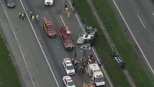 Acidente entre 4 veículos deixa 7 feridos na Castello Branco em SP