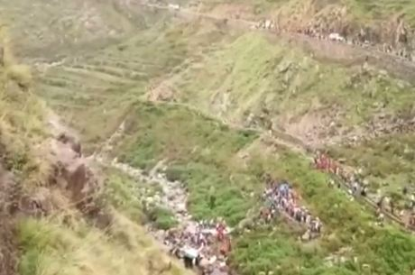 Região montanhosa da Índia é propícia a acidentes
