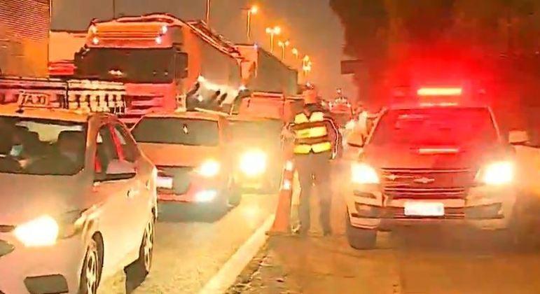 Atropelamento na Marginal Tietê causa congestionamento na manhã desta quarta (2)