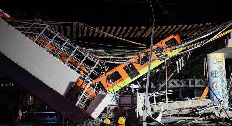 Problemas nas soldas e vigas contribuíram para a queda do viaduto, em 3 de maio