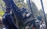 Equipes de resgate atuaram com ambulâncias e helicópteros, para levar os feridos com pressa ao hospital