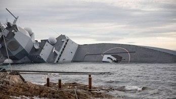 Noruega tem prejuízo milionário com naufrágio de navio militar (Reprodução)