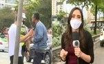 Segundo apuração da repórter Maria Carolina Paz, a equipe de uma outra emissora também foi ameaçada pelo condutor do carro na zona leste da capital