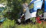 'No momento, 31 pessoas, cujas vidas não correm perigo, estão sendo atendidas, sete pessoas estão em situação crítica e duas faleceram', afirmou Maria Svobodova, porta-voz das equipes de resgate na região de Plzen