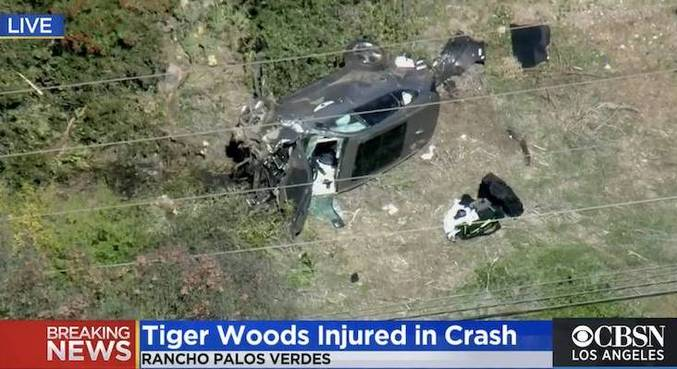 TVs americanas mostraram acidente do golfista Tiger Woods