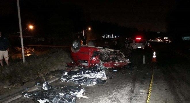 Duas crianças estão entre as vítimas fatais do acidente que deixou sete mortos