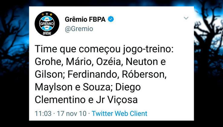 Acredite, essa foi uma escalação do Grêmio comandado pelo técnico Renato Gaúcho em 2010.