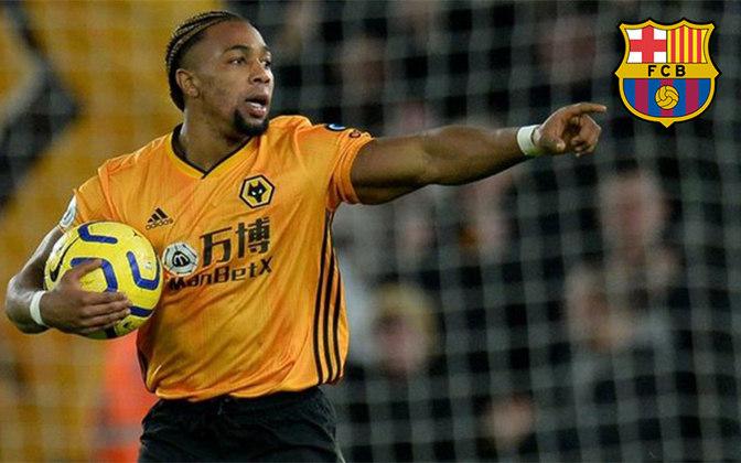 Adama Traoré. Posição: Atacante. Idade: 24 anos. Clube atual: Wolverhampton. Clube interessado: Barcelona.