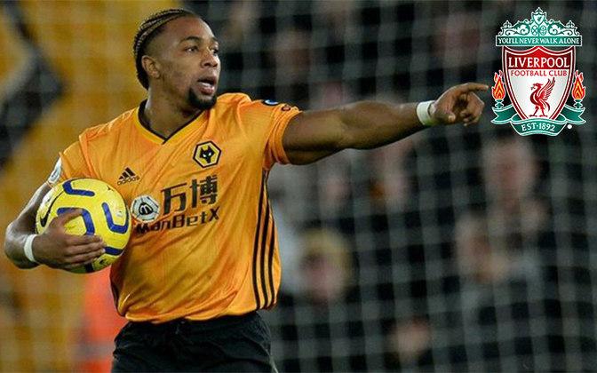 Adama Traoré. Posição: Atacante. Idade: 24 anos. Clube atual: Wolverhampton. Clube interessado: Liverpool.