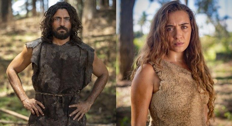 Carlo Porto e Juliana Boller interpretam Adão e Eva, respectivamente, em Gênesis