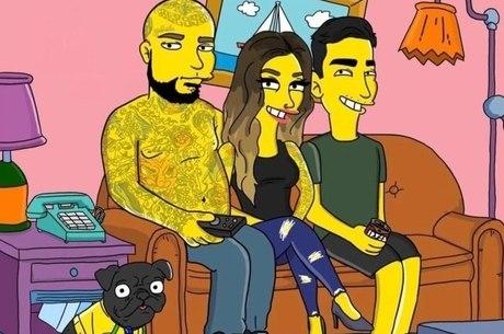 Família Rosa como desenho dos Simpsons