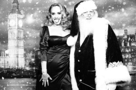 Adele posa ao lado do Papai Noel e mostra nova silhueta