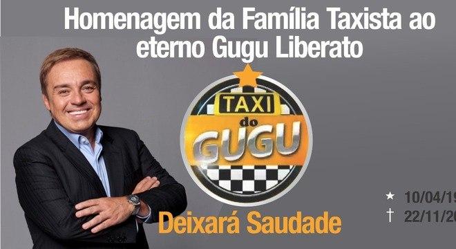 Adesivo que será usado por taxistas em homenagem a Gugu