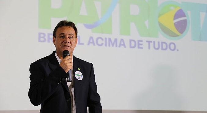 Adilson Barroso, que foi afastado por 90 dias da presidência do partido Patriota