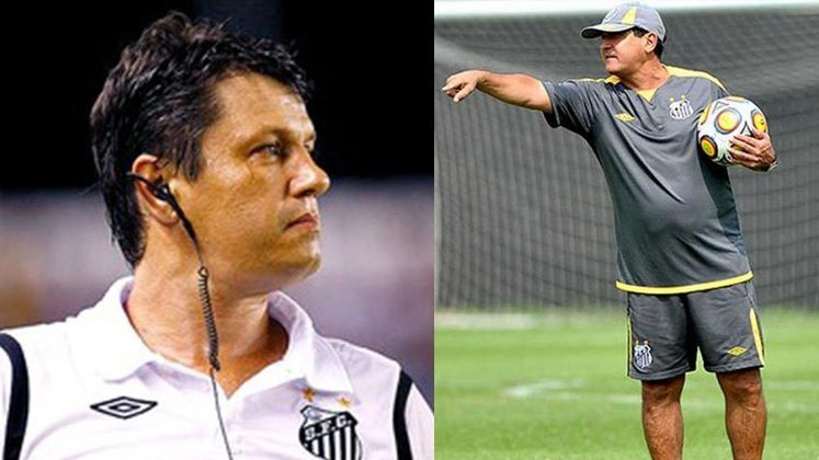 Adilson Batista/Muricy Ramalho - Santos 2011: outro título que o Santos venceu mudando de treinador foi a Libertadores de 2011. Adilson Batista começou a campanha, mas foi demitido, dando lugar a Muricy Ramalho, que levou o Peixe ao tricampeonato da competição continental