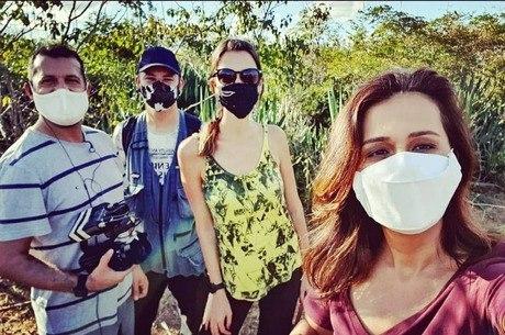 Adriana gravou no Nordeste com equipe do programa