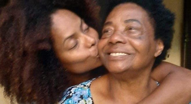 Adriana Bombom e a mãe Ernestina