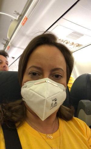 Adriana voltando da Bahia
