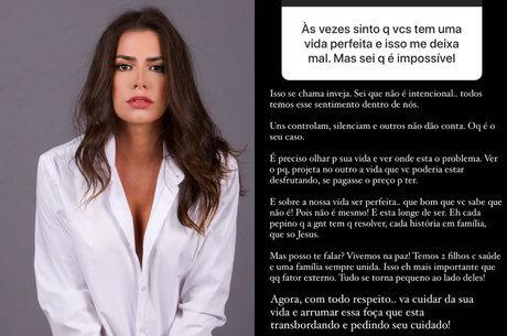 Adriana foi criticada após resposta a seguidora