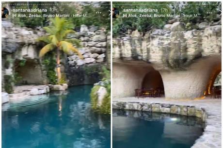 Hotel onde Adriana está hospedada no México