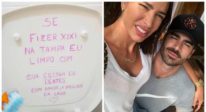 Rodrigão ganhou bronca da mulher em plena internet