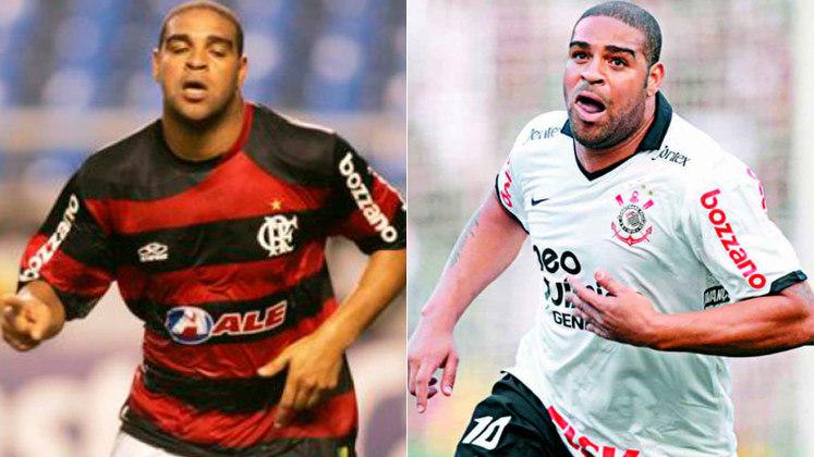 ADRIANO – Idolatrado pela Nação Rubro Negra, o Imperador também já vestiu a camisa do Timão. Seus títulos mais marcantes pelos clubes são dois Campeonatos Brasileiros – o de 2009 com o Flamengo e o de 2011 com o Corinthians.
