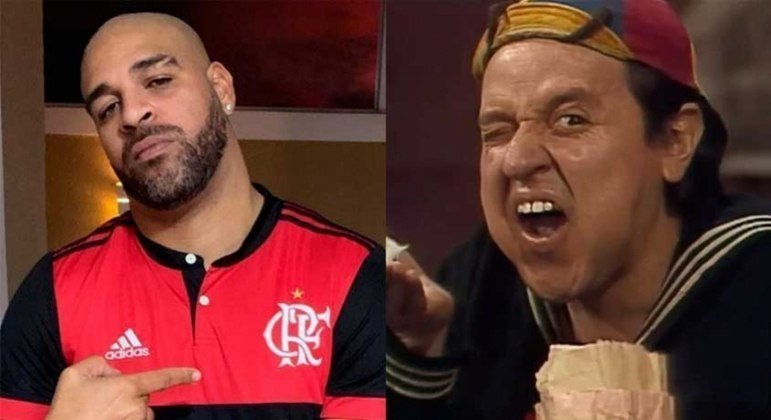 Adriano é grande fâ de Quico, do 'Chaves'