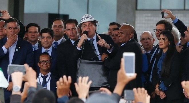 Bolsonaro participou de inauguração de aeroporto