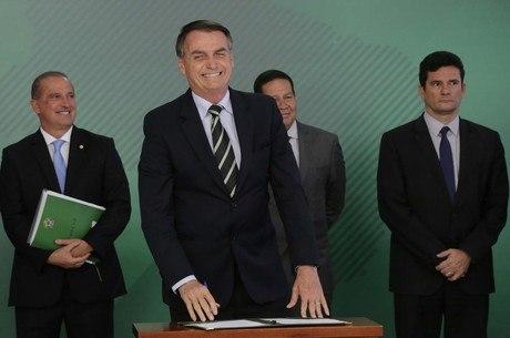 Bolsonaro, Onyx, Mourão e Moro