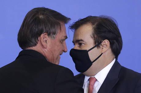Rodrigo Maia disparou contra Bolsonaro no plenário
