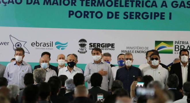 Bolsonaro foi para Sergipe na manhã desta segunda-feira (17)