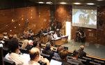 Tomada geral da audiência do caso envolvendo a morte do menino Henry Borel, no Tribunal de Justiça do Estado do Rio de Janeiro, nesta quarta- feira (6)