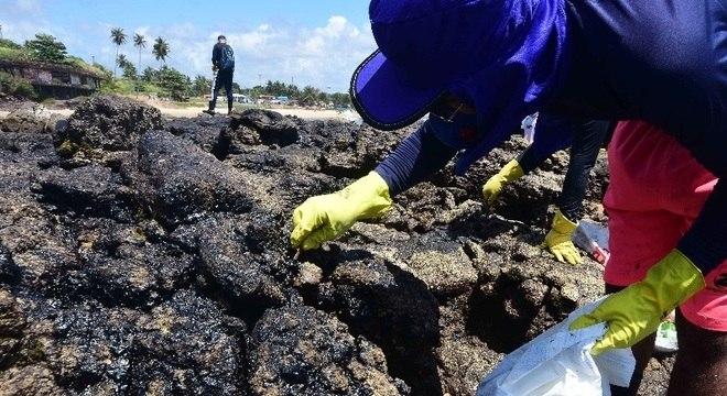 Foram recolhidos mais de quatro mil toneladas de óleo no Nordeste