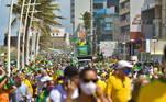 Apoiadores de Jair Bolsonaro realizaram manifestação no Farolda Barra, na cidade de Salvador (BA)