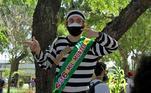 Em Aracaju, esse manifestante foi às ruas para protestar