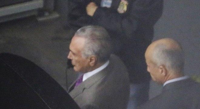 Temer foi preso na última quinta-feira (21) em desdobramento da Lava Jato
