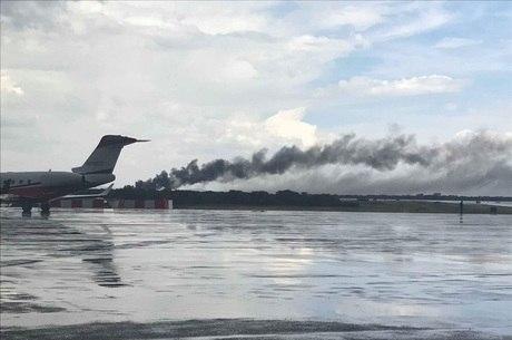 Jornalista flagrou queda do avião