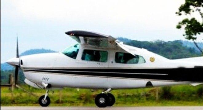 Aeronave apreendida pela PF durante operação contra tráfico