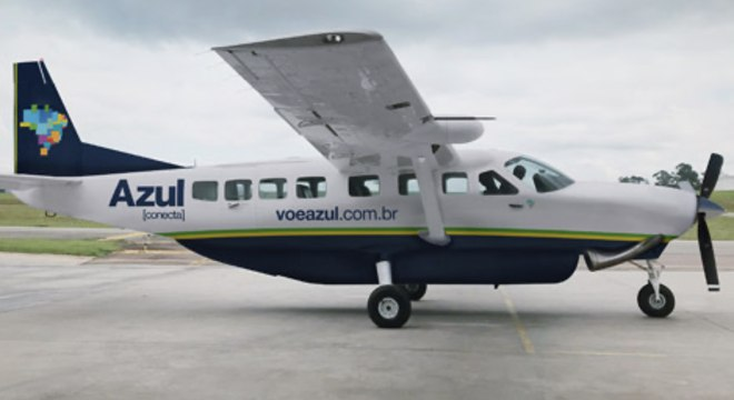 Aeronave da Azul Conecta, como essa, fará o transporte até Angra dos Reis