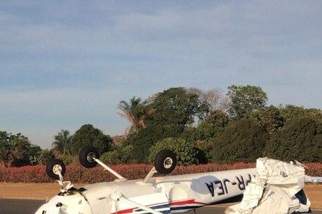 Hélice do avião se chocou em estabilizador da aeronave