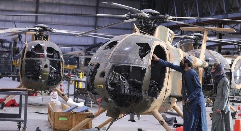 Aeronaves e outros equipamentos foram deixados ao Talibã no Afeganistão
