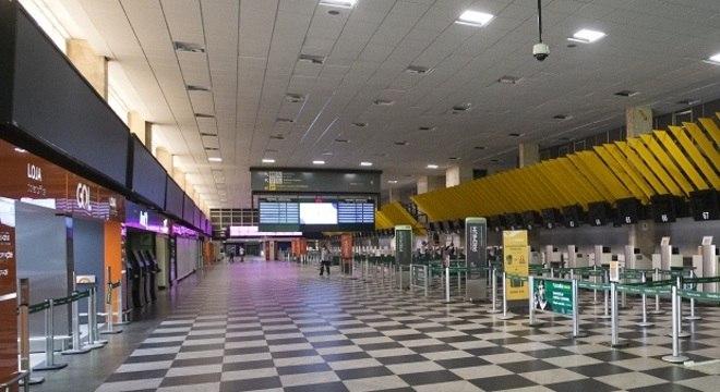 Aeroporto de Congonhas vazio durante a pandemia