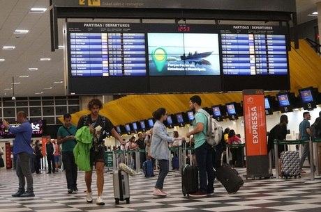 Movimento no aeroporto de Congonhas, em SP