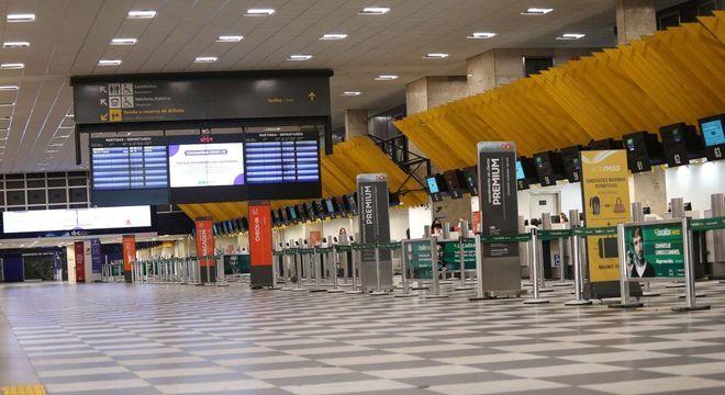 Aeroporto de Congonhas em São Paulo (SP) nesta sexta-feira (22)