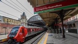 Trem que leva usuário da Luz ao Aeroporto de Cumbica é inaugurado ()