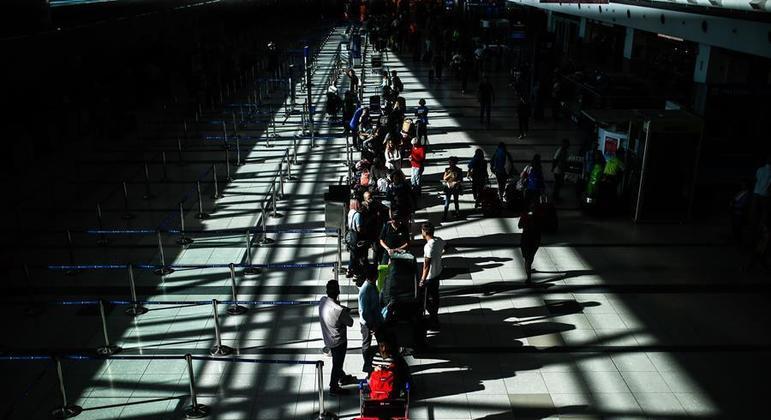 Aeroporto Internacional de Ezeiza, em Buenos Aires